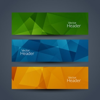Colors geometric banners