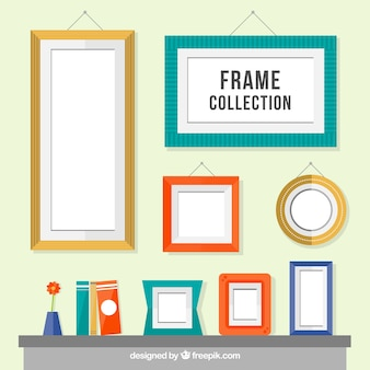 Colors geometric frame collection