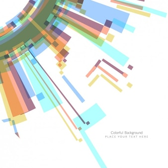 Colors geometric pieces background