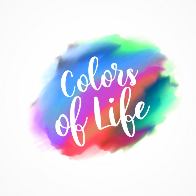 Colors of life, watercolor