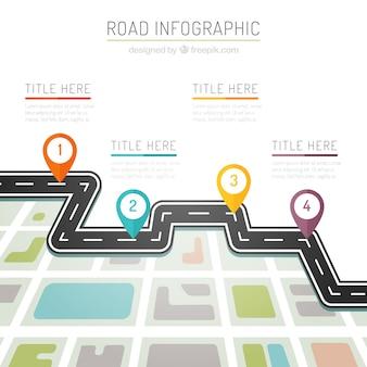 Colors road infography