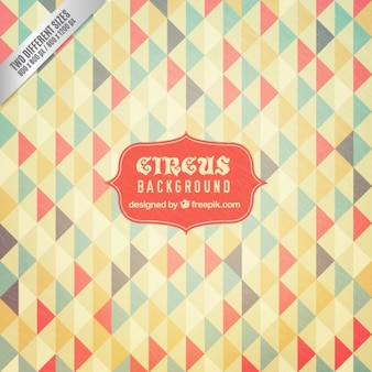 Colors triangles circus background