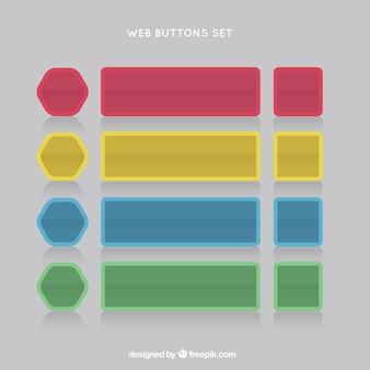 Colors web buttons set