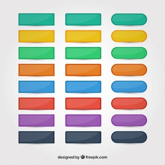 Colors web buttons set