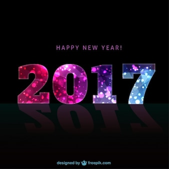 Colour 2016 on a black new year background