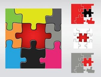 Colour Puzzle Pieces background vector