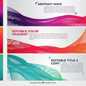 Colour waves banners template