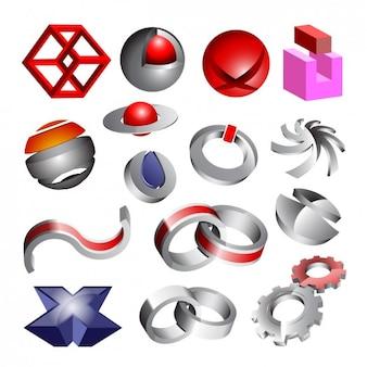 Coloured 3d elements
