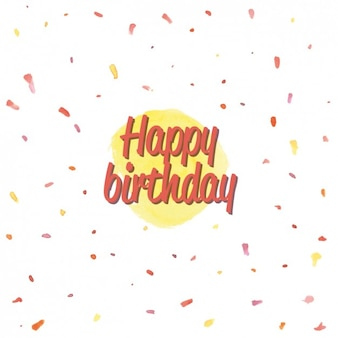 Coloured abstract birthday background
