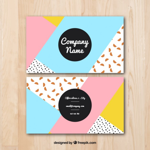 Coloured abstract business card design