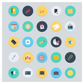 Coloured accounting icons collection