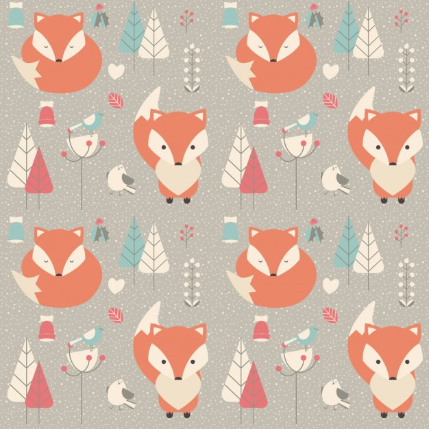 Coloured animals pattern