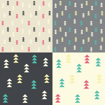 Coloured arrow patterns collection
