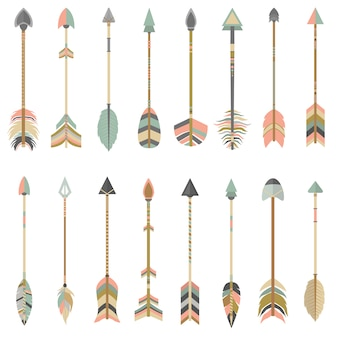 Coloured arrows collection