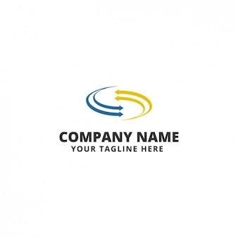 Coloured arrows logo template