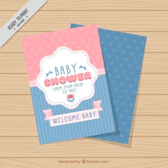 Coloured baby shower invitation card