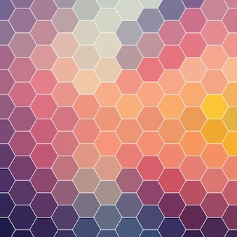 Coloured background made of hexagonal shapes