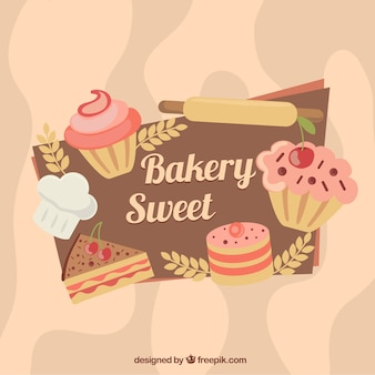 Coloured bakery background