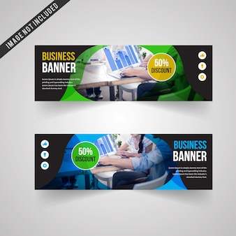 Coloured banners set