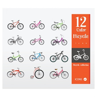 Coloured bikes collection
