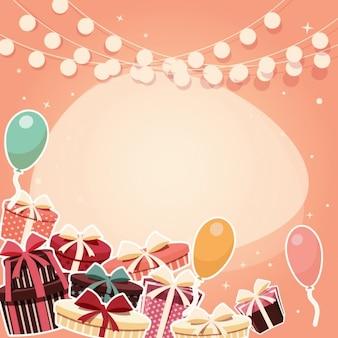色とりどりの誕生日の背景デザイン