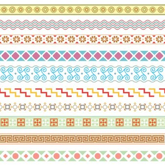 Coloured borders collection