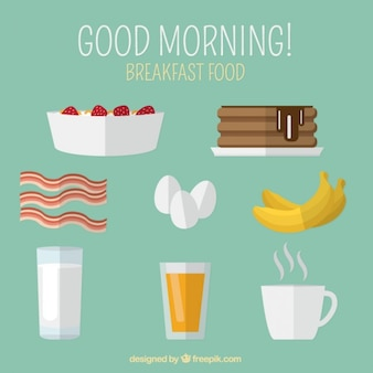 Coloured breakfast elements