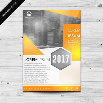 Coloured brochure template