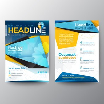Coloured brochure template
