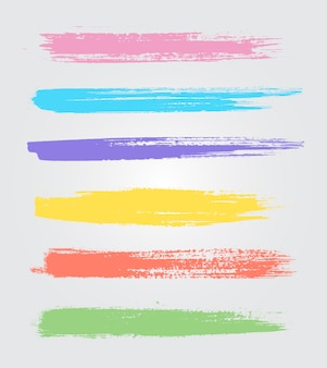 Coloured brush strokes collection