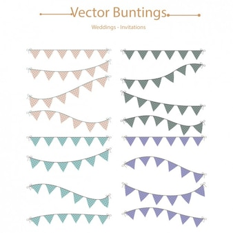 Coloured buntings collection