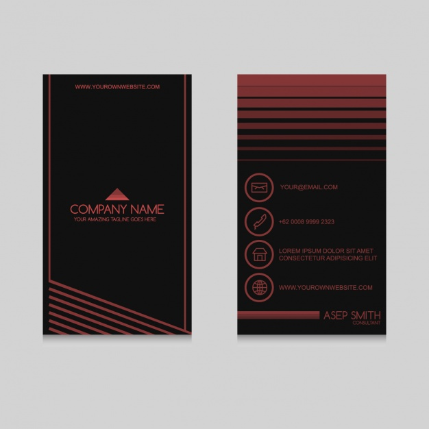Coloured business card design