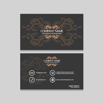 Coloured business card design