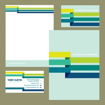 Coloured business stationery
