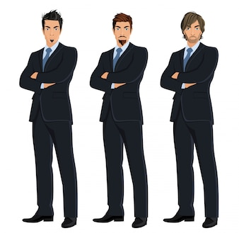 Coloured businessmen set