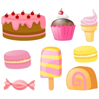 Coloured cakes collection