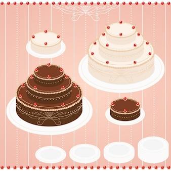 Coloured cakes design