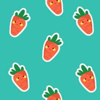 Coloured carrots pattern