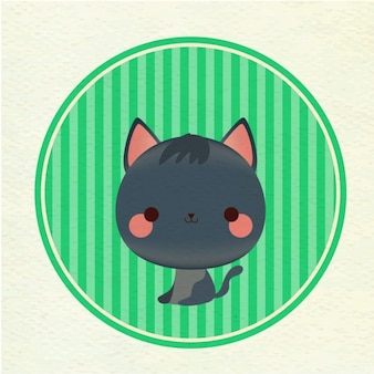 Coloured cat background