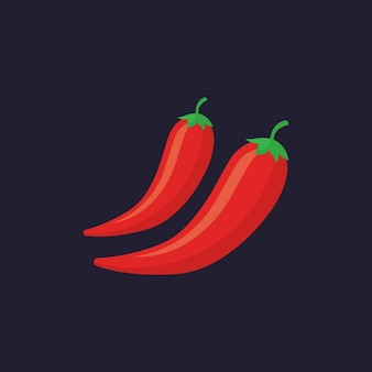 Coloured chilli peppers design