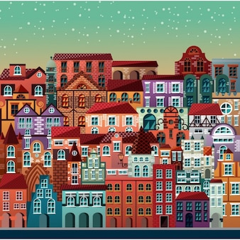 Coloured city view