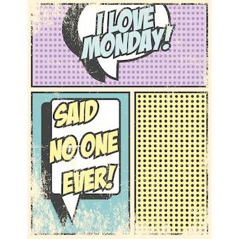 Coloured comic vignette design