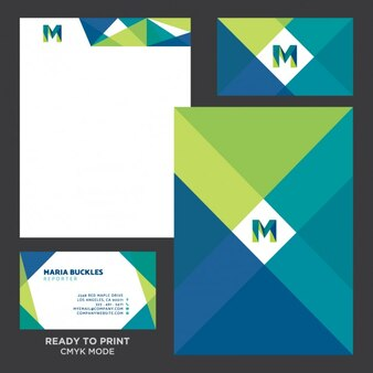 Coloured corporative stationery