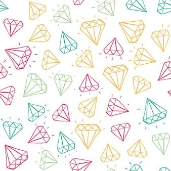 Coloured diamonds pattern design