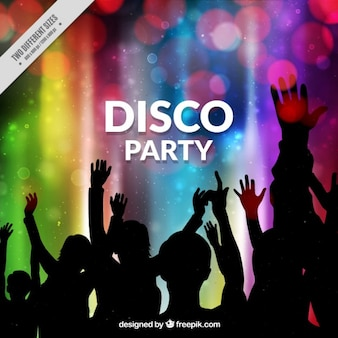 Coloured disco party background