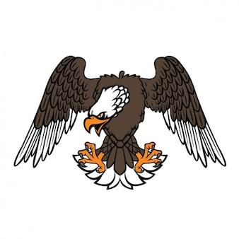 Coloured eagle design