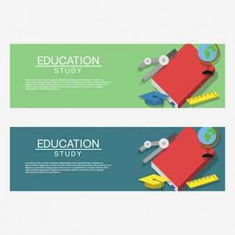 Coloured education banners