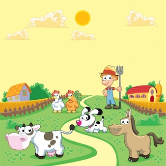 Coloured farm background