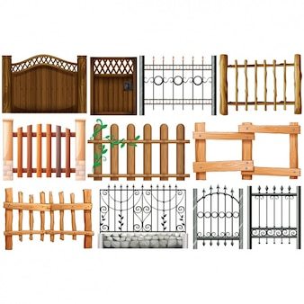 Coloured fences collection