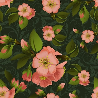 Coloured floral background